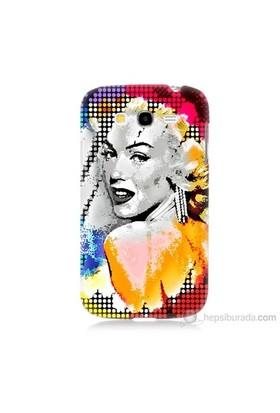 Teknomeg Samsung Galaxy Grand Neo Kapak Kılıf Marilyn Monroe Baskılı Silikon