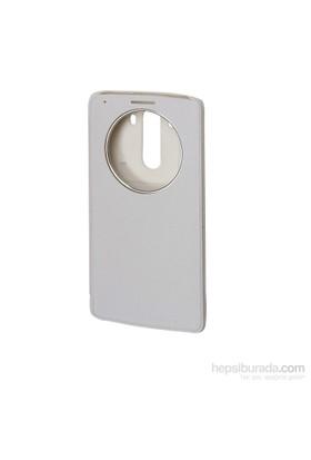 Inovaxis Lg G3mini Flip Cover İnce Ve Koruyucu Kılıf Kapak Beyaz
