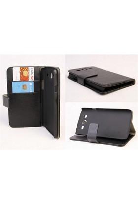 Microsonic Cüzdanlı Standlı Deri Kılıf - Samsung Galaxy Mega 5.8 İ9150 / İ9152 Siyah