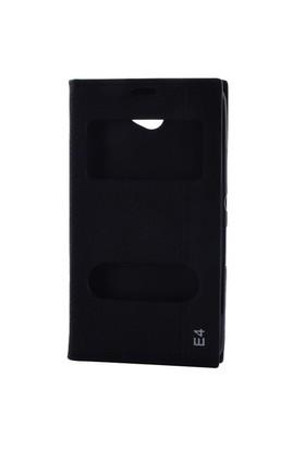 Gpack Sony Xperia E4 Kılıf Pencereli Kapaklı Magnum - Siyah