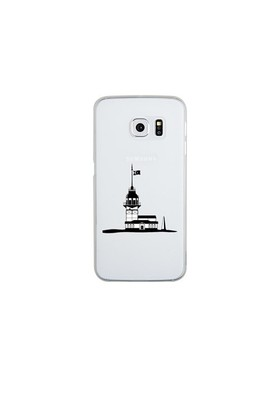 Remeto Samsung Galaxy S6 Edge Şeffaf Transparan Silikon Resimli Kız Kulesi