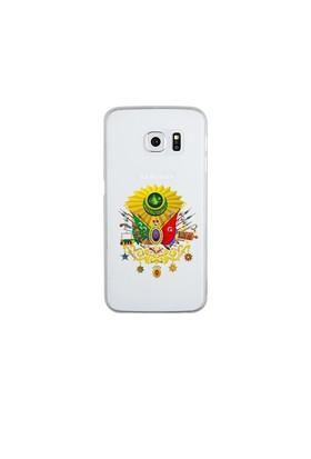 Remeto Samsung Galaxy S6 Edge Şeffaf Transparan Silikon Resimli Osmanlı Tuğrası