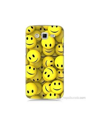 Teknomeg Samsung Galaxy Grand 2 Kapak Kılıf Smile Baskılı Silikon