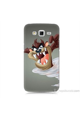 Teknomeg Samsung Galaxy Grand 2 Kapak Kılıf Tazmanya Canavarı Baskılı Silikon