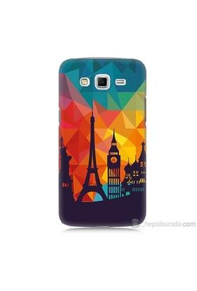Teknomeg Samsung Galaxy Grand 2 Kapak Kılıf Görkemli Yapılar Baskılı Silikon