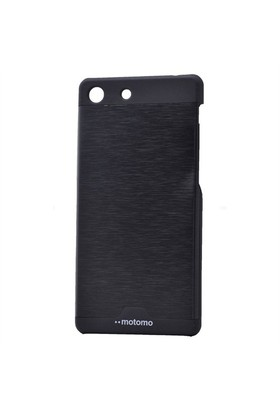 Teleplus Sony Xperia M5 Metal Kapak Tam Korumalı Siyah