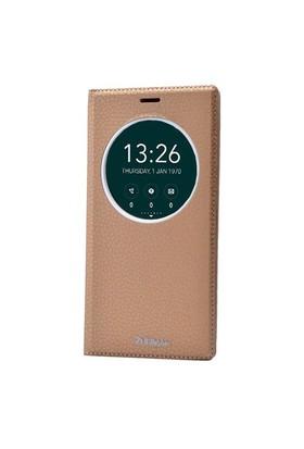 Teleplus Zenfone 2 Laser 6 İnç Pencereli Lüx Kılıf Sarı