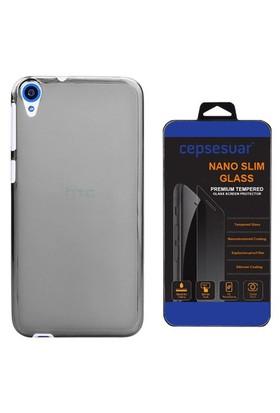 Cepsesuar Htc Desire 820 Kılıf Silikon 0.2 Mm Siyah - Cam