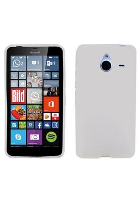 Case 4U Microsoft Lumia 640 XL Soft Silikon Kılıf Şeffaf