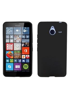 Case 4U Microsoft Lumia 640 XL Soft Silikon Kılıf Siyah