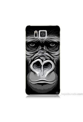 Teknomeg Samsung Galaxy Alpha Kapak Kılıf Goril Baskılı Silikon