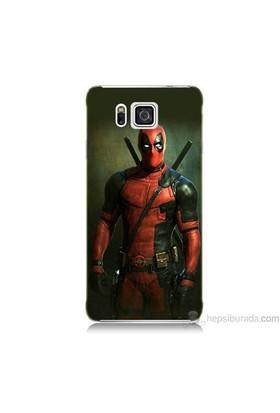 Teknomeg Samsung Galaxy Alpha Kapak Kılıf Deadpool Baskılı Silikon