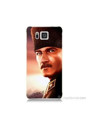 Teknomeg Samsung Galaxy Alpha Kapak Kılıf Mustafa Kemal Baskılı Silikon