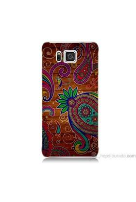Teknomeg Samsung Galaxy Alpha Kapak Kılıf Çiçek Deseni Baskılı Silikon