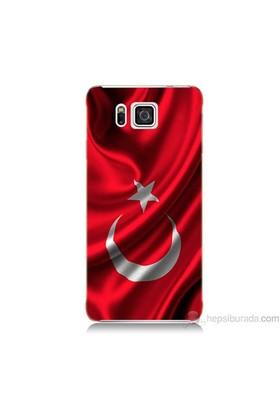 Teknomeg Samsung Galaxy Alpha Kapak Kılıf Türkiye Bayrağı Baskılı Silikon