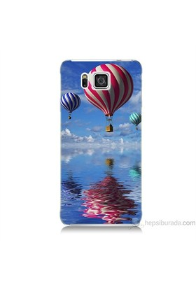 Teknomeg Samsung Galaxy Alpha Kapak Kılıf Renkli Balonlar Baskılı Silikon
