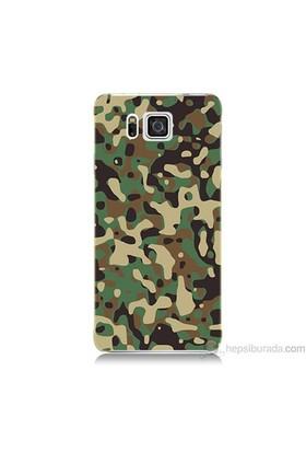 Teknomeg Samsung Galaxy Alpha Kapak Kılıf Askeri Kamuflaj Baskılı Silikon