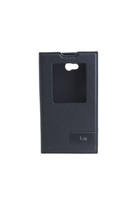 Teleplus Lg L80 Pencereli Uyku Modlu Kılıf Siyah