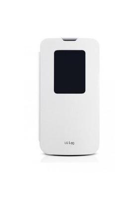 Teleplus Lg L90 Pencereli Uyku Modlu Kılıf Beyaz