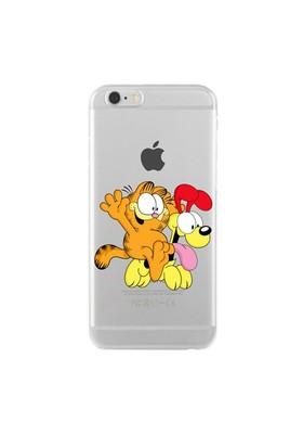 Remeto Samsung Galaxy Note 3 Transparan Silikon Resimli Garfield Ve Odie