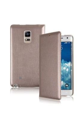 Microsonic Delux Kapaklı Samsung Galaxy Note Edge Kılıf Altın Sarısı - CS150-DLX-NOTE-EDGE-SRI