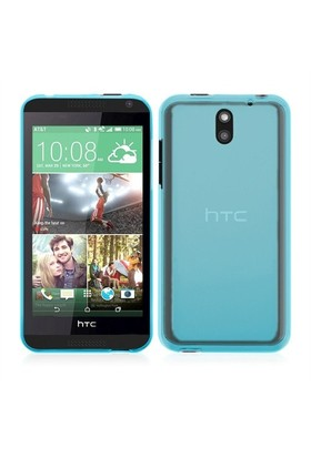 Microsonic Transparent Soft Htc Desire 610 Kılıf Mavi
