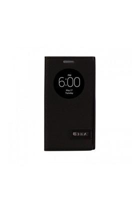 Lopard Lg G3 Beat (Mini) Kılıf Kapaklı Pencereli Ellite Case Deri Siyah