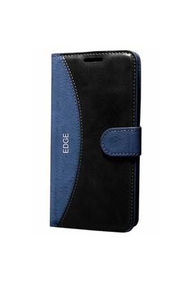 Cep Market Samsung Galaxy Note Edge Kılıf Standlı Cüzdan (Lacivert)
