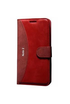 Gpack Samsung Galaxy Note 2 Kılıf Standlı Cüzdan (Kırmızı)