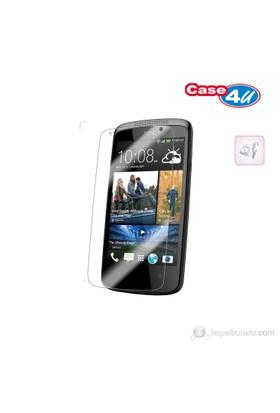 Case 4U HTC Desire 500 Ekran Koruyucu ( Ultra Şeffaf Parmak izi bırakmaz )