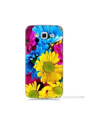 Teknomeg Samsung Galaxy Grand 2 Kapak Kılıf Kasımpatı Baskılı Silikon