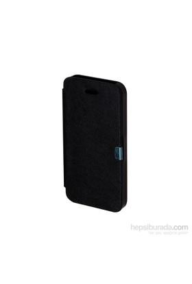 Inovaxis Apple iPhone 5/5S Penceresiz Flip Cover Kılıf Kapak Siyah