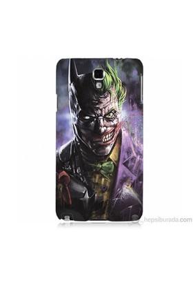 Teknomeg Samsung Galaxy Note 3 Neo Kapak Kılıf Joker Vs Batman Baskılı Silikon