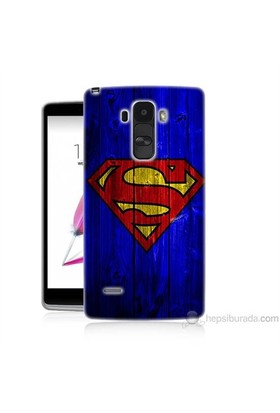 Teknomeg Lg G4 Stylus Kapak Kılıf Superman Baskılı Silikon