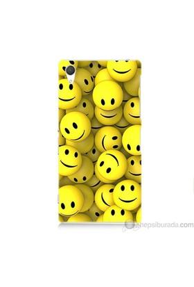 Teknomeg Sony Xperia Z2 Kapak Kılıf Smile Baskılı Silikon