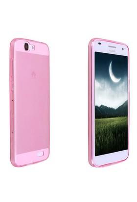 Case 4U Huawei Ascend G7 Ultra İnce Silikon Kılıf Pembe