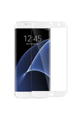 Microsonic Samsung Galaxy S7 Edge 3D Kavisli Temperli Cam Ekran Koruyucu Film Beyaz