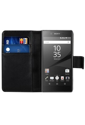Microsonic Sony Xperia Z5 Premium Kılıf Cüzdanlı Deri Siyah