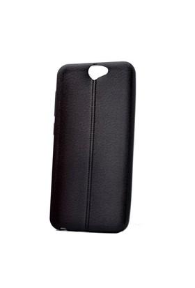 Teleplus Htc One A9 Deri Görünümlü Silikon Kılıf Siyah