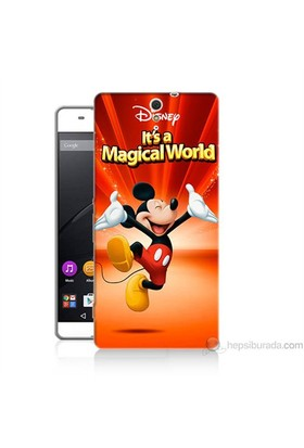 Teknomeg Sony Xperia C5 Kapak Kılıf Mickey Baskılı Silikon