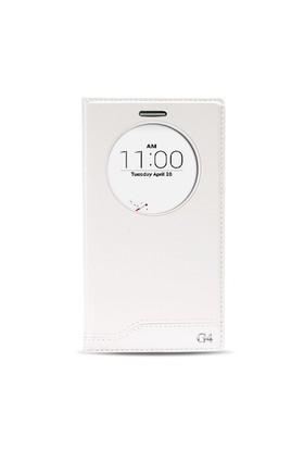 Fitcase Dolce Lg G4 H815 Gizli Mıknatıslı Pencereli Kılıf Beyaz