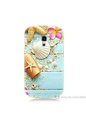 Teknomeg Samsung Galaxy S3 Mini Kapak Kılıf Deniz Kabuğu Baskılı Silikon