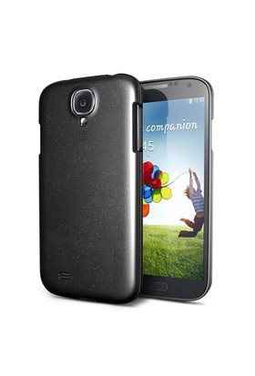 Spigen Samsung Galaxy S4 Kılıf i9500 Bounce Soft TPU - (Soul Black) Siyah