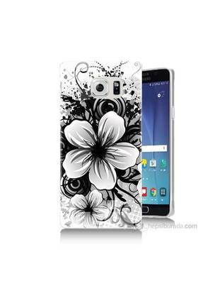 Teknomeg Samsung Galaxy Note 5 Kapak Kılıf Manolya Baskılı Silikon