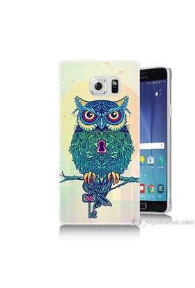 Teknomeg Samsung Galaxy Note 5 Kapak Kılıf Anahtar Baykuş Baskılı Silikon