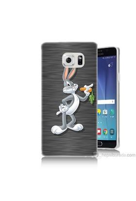 Teknomeg Samsung Galaxy Note 5 Kapak Kılıf Bugs Bunny Baskılı Silikon