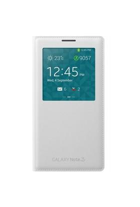 Samsung Galaxy Note 3 N9000 S View Kapaklı Kılıf – Beyaz EF-CN900BWEGWW