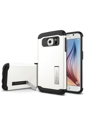 Spigen Samsung Galaxy S6 Kılıf Slim Armor - Shimmery White - SGP11326