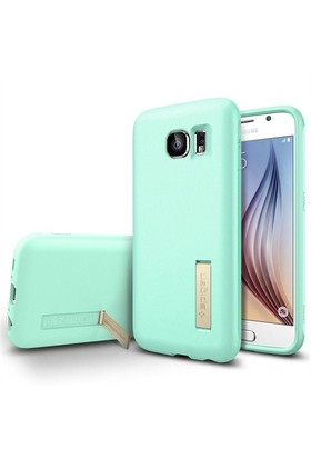 Spigen Samsung Galaxy S6 Kılıf Capsule Solid - Mint (Pearl) - 11438