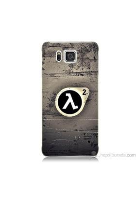 Teknomeg Samsung Galaxy Alpha Kapak Kılıf Half Life Baskılı Silikon